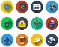 Set of communication icons Royalty Free Stock Images