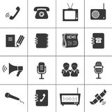 Set of communication icons. Royalty Free Stock Photo