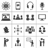 Set of communication icons. Stock Photography