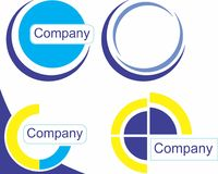 Set of company and element Royalty Free Stock Image