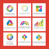 Set of company logos Royalty Free Stock Image