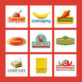 Set of company logos. A set of company logos for the food industry Stock Image