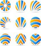 Set of Company Logos. Royalty Free Stock Photo