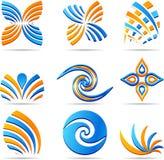 Set of Company Logos. Royalty Free Stock Image