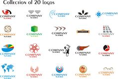 Set of company logos Stock Image