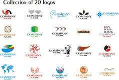 Set of company logos Stock Image