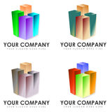Set of company signs Royalty Free Stock Photos