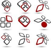 Set of Company symbols. Royalty Free Stock Images