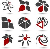 Set of Company symbols. Stock Photos