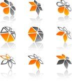 Set of Company symbols. Royalty Free Stock Photos
