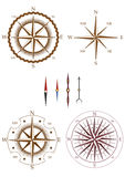 Set of compass elements Royalty Free Stock Image