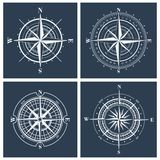Set of compass roses. Vector illustration. Stock Photos