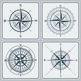 Set of compass roses (windroses) . Royalty Free Stock Photos