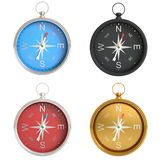 Set of compasses isolated on white background Royalty Free Stock Photo