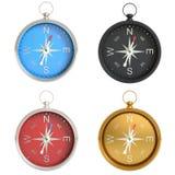Set of compasses isolated on white background Royalty Free Stock Photo