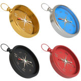 Set of compasses isolated on white background Stock Photography