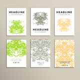 Set complex creative color pattern. Vector eps10 Royalty Free Stock Photos