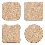 Set compressed light brown wooden chipboard t Stock Images