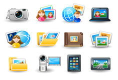 Set of compute icons Royalty Free Stock Image