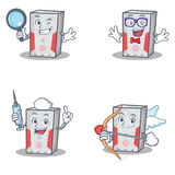 Set of computer character with detective geek nurse cupid Royalty Free Stock Images