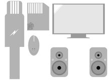 Set of computer elements. Vector illustration Royalty Free Stock Image
