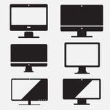 Set of computer icon, pc flat design. Set of computer icons, pc and mac flat design Stock Photography