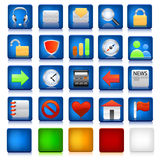 Set of computer icons Royalty Free Stock Photography