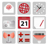 Set of computer icons Royalty Free Stock Photos