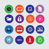 Set of computer icons. In flat desigh. vector Stock Photo