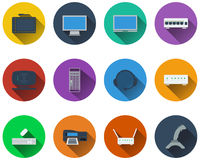 Set of computer icons Stock Image