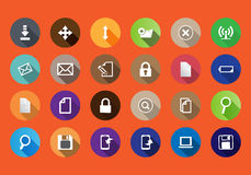 Set of computer icons in a flat design Stock Photo