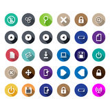 Set of computer icons in a flat design Stock Photography