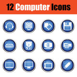 Set of computer icons. Royalty Free Stock Images