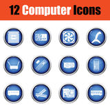 Set of computer icons. Stock Image