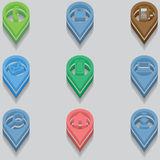 Set of computer icons. isometric Royalty Free Stock Photo