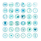 Set of computer icons Stock Photography