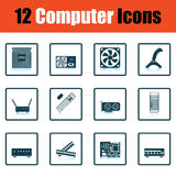 Set of computer icons Royalty Free Stock Image