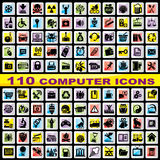 Set computer icons Royalty Free Stock Photos