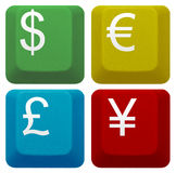 Set Computer Keyboard Key Currency Banking Stock Images