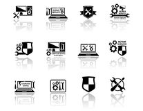 Set of computer service icons Stock Image