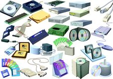 Set - computer world (accessory). Vector illustration Royalty Free Stock Photography