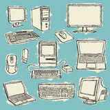 Set of computers Royalty Free Stock Photo