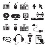Set of computers and hardware icons Royalty Free Stock Photography