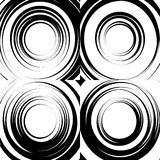 Set of concentric abstract circular backgrounds. Royalty Free Stock Image