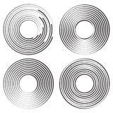 Set of concentric circles geometric element. Vector illustration royalty free illustration