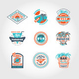 Set concept badge Royalty Free Stock Images