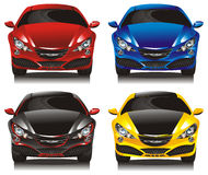 Set concept cars - sedans Royalty Free Stock Images