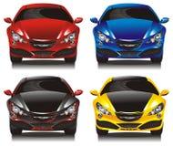 Set concept cars - sedans Royalty Free Stock Images