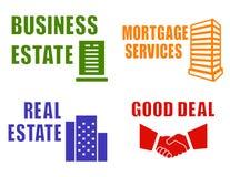 Set concept estate icons Royalty Free Stock Photo