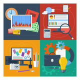 Set of concept for finance, marketing, web design Stock Photo